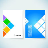 Brochure cover design vector template — Stock Photo