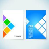 "Broschüre cover entwurfsvorlage ""vektor — Stockfoto"