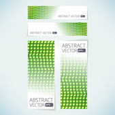 Abstract vector banner background template — Stock Vector
