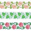 Cute floral borders — Stock Vector #13129883
