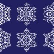 Stockvektor : Decorative vector Snowflakes set