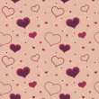 Valentine hearts seamless pattern — Stock Vector