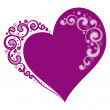 Stylized heart for Valentine's day — Image vectorielle