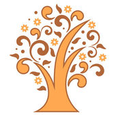 Stylized tree — Stock Vector