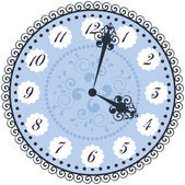 Vector old vintage clock face — Stock Vector