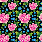 Seamless texture with roses — Stockvektor