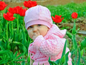A garotinha — Foto Stock