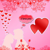 Bright pink illustration on Valentine — Stock Photo