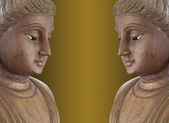 Twin buddha statues. — Stock Photo