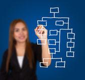 предприниматель, рисунок диаграммы — Стоковое фото
