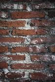 Rode bakstenen muur. — Stockfoto