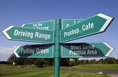 Next tee golf sign — Stock Photo
