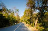 Road motion blur effect — Stock Photo