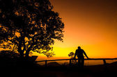Sunset view in thailand — Stock Photo