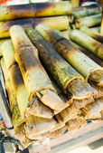 Sticky rice in bamboo — Stock Photo