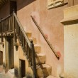 Stairway in front of indian house — Stock Photo