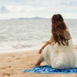 Chilling on the beach — Stock Photo