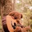 Teddy bear with the guitar — Stock Photo