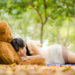 Stock Photo: Girl with bear