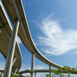 Stock Photo: Elevated express way over park
