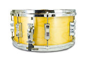 Plywood snare drum isolated on white background — Stock Photo