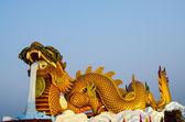 Dragón de oro — Foto de Stock