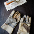 Stock Photo: Leather gloves