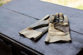 Leather gloves — 图库照片