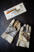 Leather gloves — Stock Photo