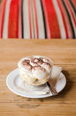 Banoffee on wood table — Stock Photo