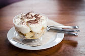 Banoffee on wood table — Foto Stock