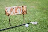 Rusty cart sign — Stock Photo