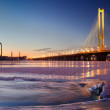 The Pivdennyi (Southern) Bridge in Kiev — Stock Photo