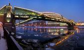 Footbridge in Moscow — Stock Photo
