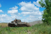 Ukrainian Military Vehicle MT-LB — Stock Photo