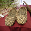 Stock Photo: Ancient museum piece of ancient Russifootwear - bast shoes