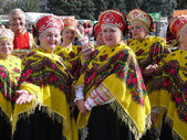Members of chorus in traditional clothes — Stock Photo
