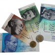 Stock Photo: Banknotes and coins of Finland to introduction of Euro photo 1