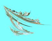 Plume of fabulous bird. — Stock Photo