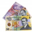 Romanian money — Stock Photo
