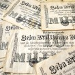 German money in 1923 - Stock Photo