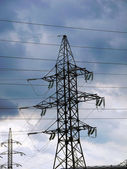 Support power lines — Stock Photo