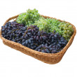 Stock Photo: Basket of grapes.