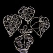 Hand made wire Hearts - Foto Stock