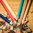Sharpened color pencils — Stock Photo