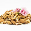 Almonds and nuts — Stock Photo
