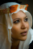 Retrato de uma linda menina multirracial — Fotografia Stock