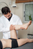 Manual, physio and therapy techniques performed — Stock Photo