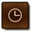 Clock face icon — Vector de stock #12189453