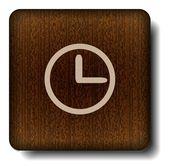 Clock face icon — Stock Vector